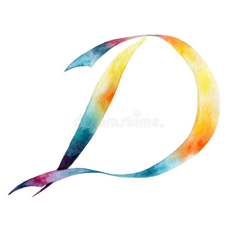 Märka D grupper som tecknar spolning för vattenfärg för blomningflodtrees abstrakt fläckar för objektbana för bakgrund clipping i vektor illustrationer
