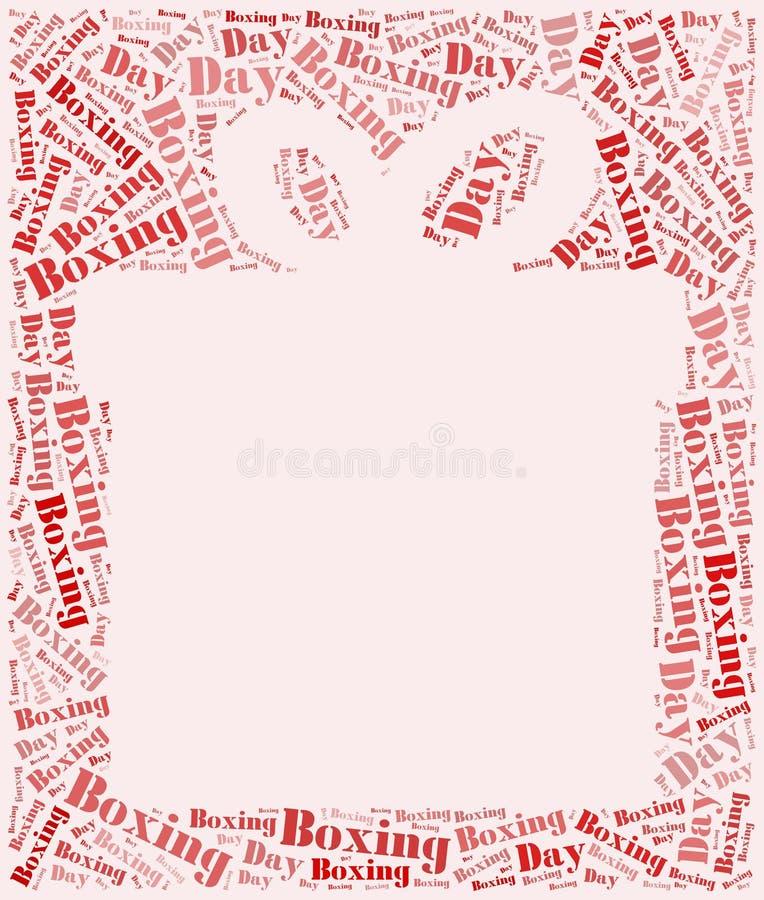 Märka eller uttrycka molnboxningdagen släkt i form av gåvaasken vektor illustrationer