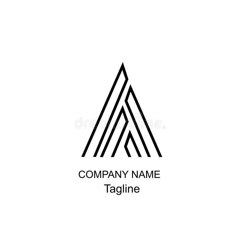 Märka en logo av den enkla designen arkivbilder