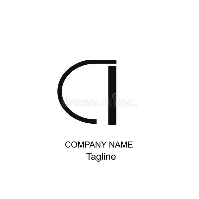 Märka en logo av designen och geomatric arkivfoton