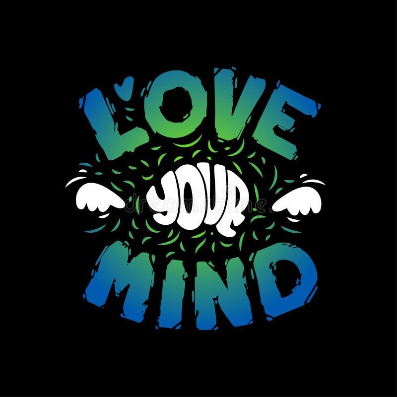 Märka förälskelse din mening Hand dragen konst sund hj?rna ocks? vektor f?r coreldrawillustration vektor illustrationer