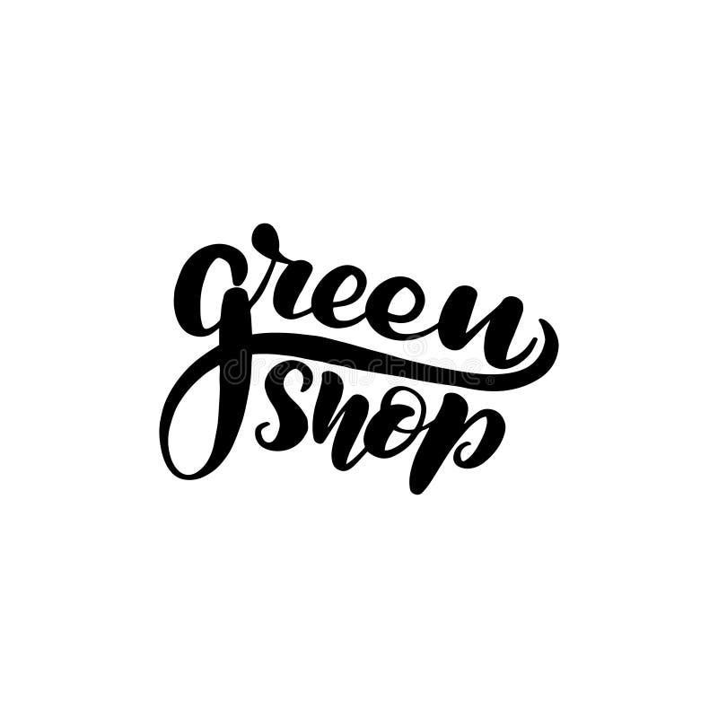 Märka gräsplan shoppa royaltyfri illustrationer