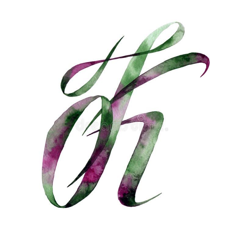 Märka K grupper som tecknar spolning för vattenfärg för blomningflodtrees abstrakt fläckar för objektbana för bakgrund clipping i stock illustrationer