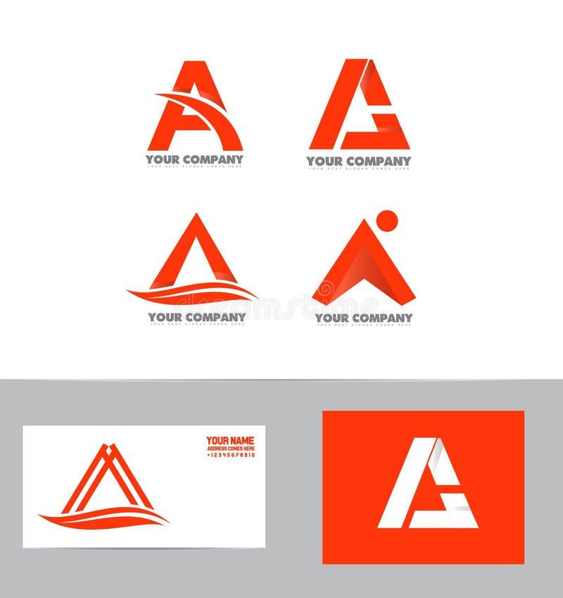 Märka a-logosymbolen för att ställa in royaltyfri illustrationer