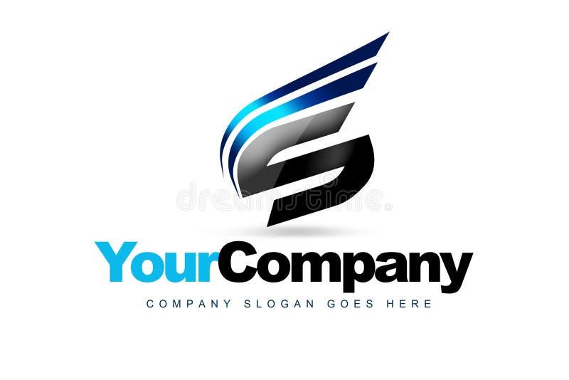 Märka s-logoen stock illustrationer