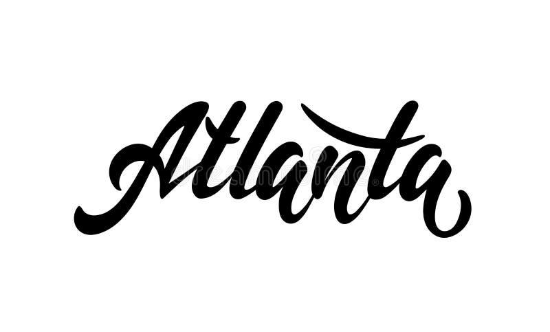 Märka staden Atlanta stock illustrationer
