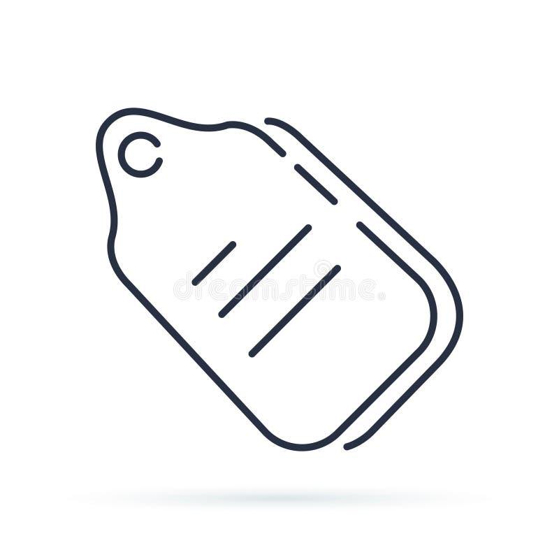 Märka symbolen i den moderiktiga linjen stil som isoleras på vit bakgrund Affärskupong stock illustrationer