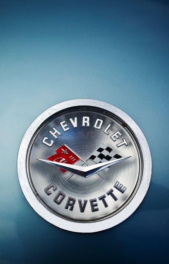 märke Chevrolet Corvette royaltyfria foton
