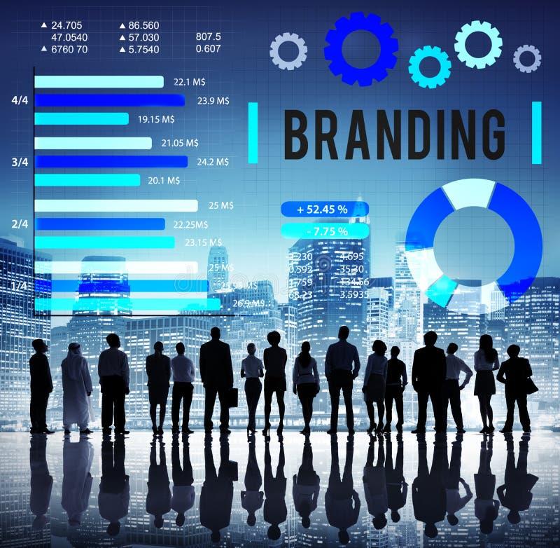 Märke som brännmärker begrepp för Copyright advertizingbaner arkivfoton