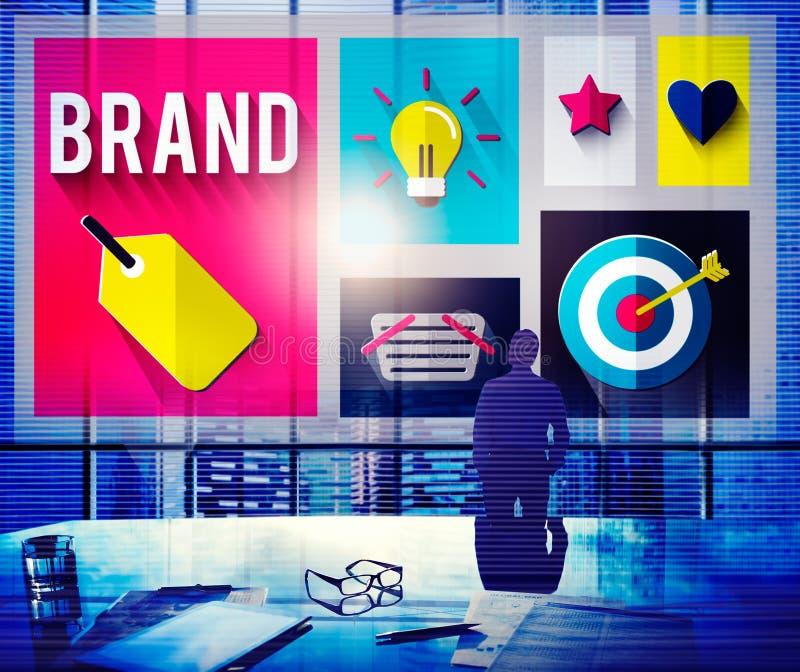 Märke som brännmärker marknadsföringsidéer idérikt begrepp royaltyfri fotografi