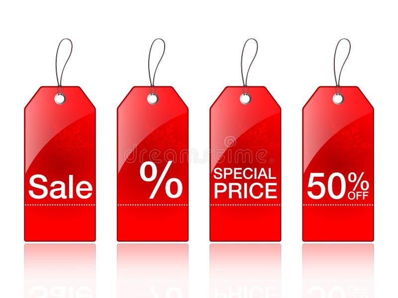 märker försäljning vektor illustrationer