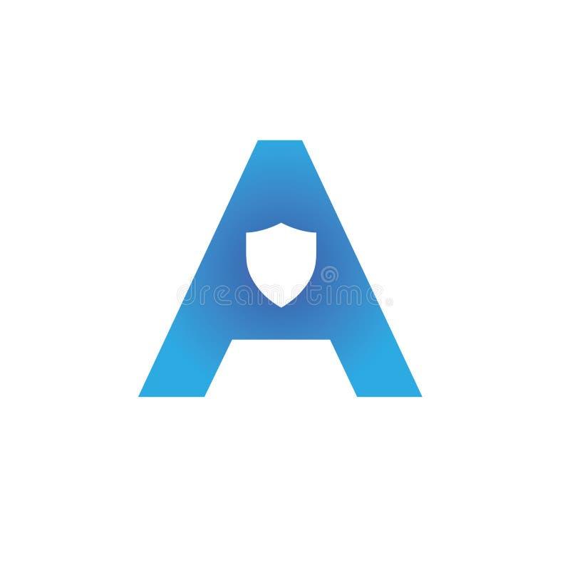Märker a-logo designmallbeståndsdelar royaltyfria bilder