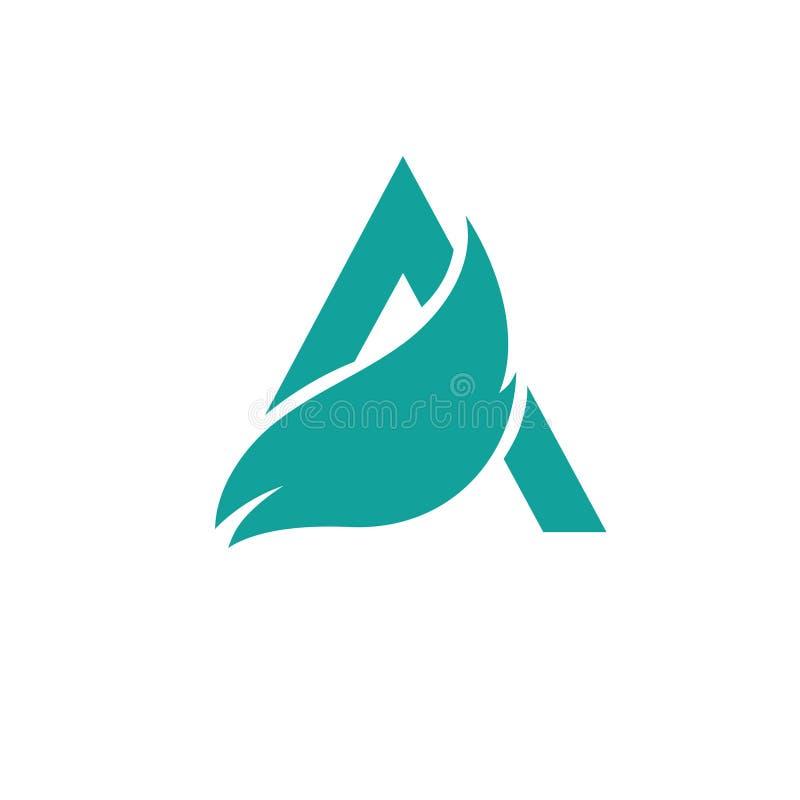 Märker a-logo Designmallbeståndsdelar, eco arkivbild