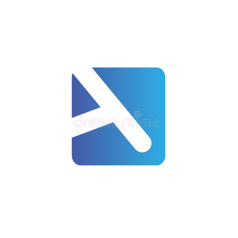 Märker a-logo Designmallbeståndsdelar, symboler fotografering för bildbyråer