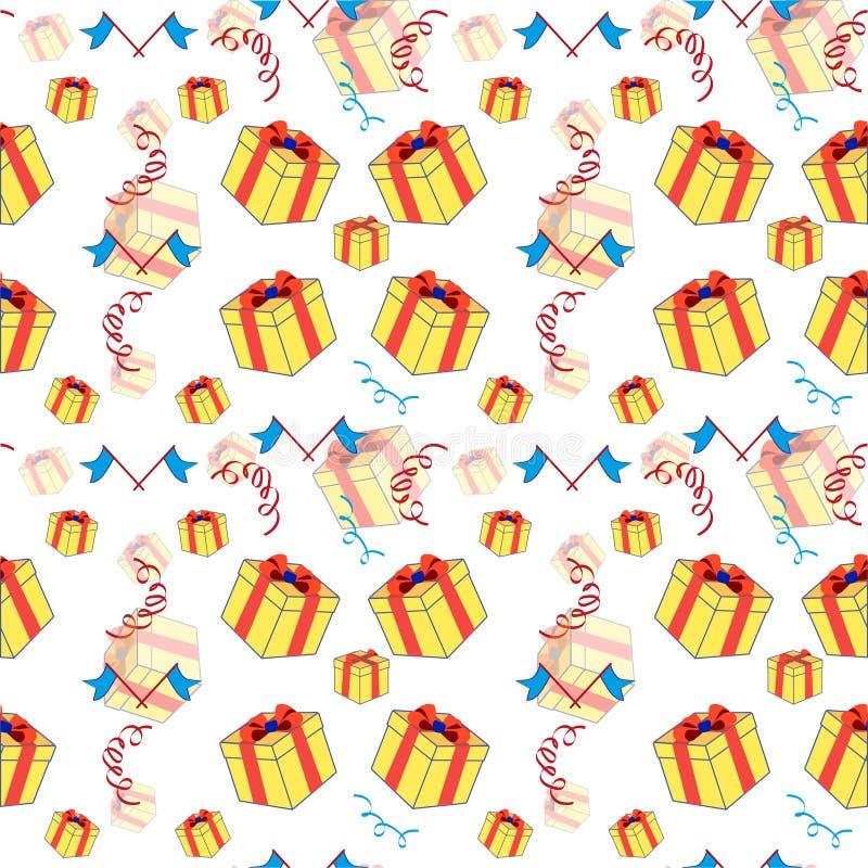 Märkes- beslut för ` s för ett födelsedagparti, bakgrund, vektor royaltyfri illustrationer