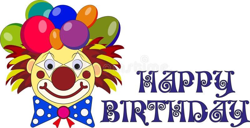 Märkes- beslut för ` s för ett födelsedagparti, peruk med ballonger, gemkonst stock illustrationer