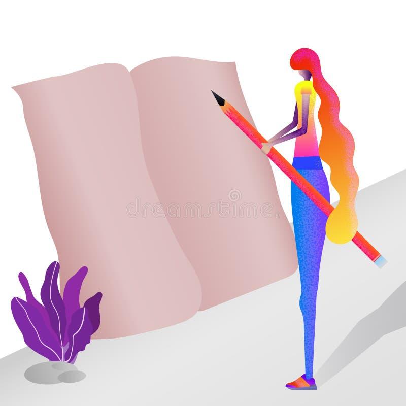 Märkes- freelancer paper blyertspenna Seo befordran arkivbilder