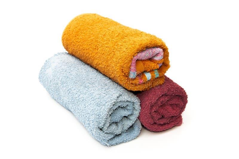 Märkes- handdukar arkivbild