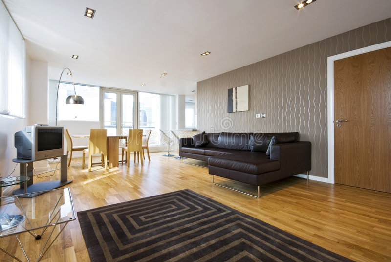 märkes- livingroom arkivbilder