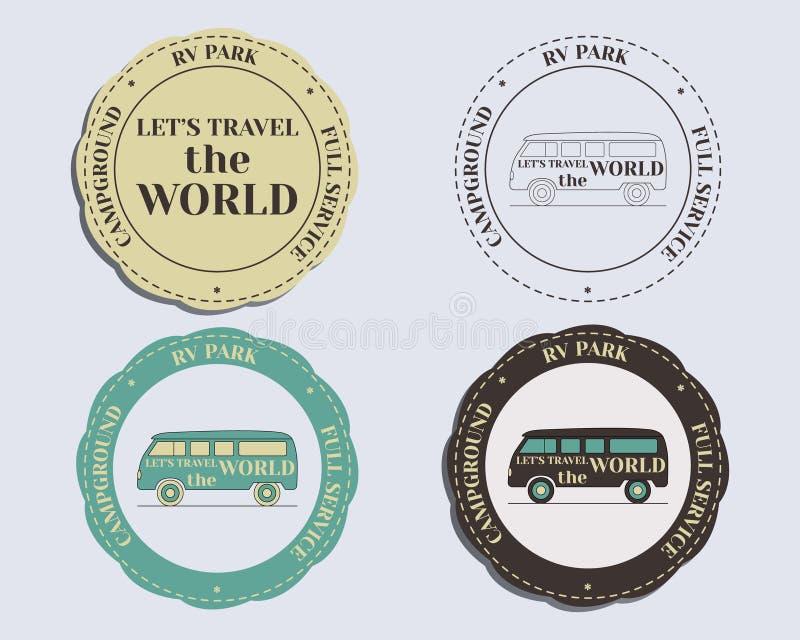 Märkesidentitetsbeståndsdelar - logomallar och royaltyfri illustrationer