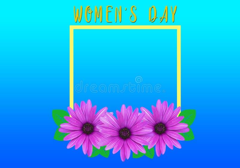 8. März Blumen-Frauen ` s Tagesfeld lizenzfreie stockfotografie