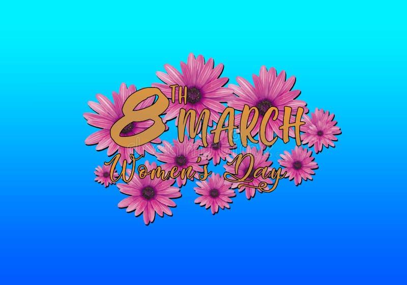 8. März Blumen-Frauen ` s Tageshintergrund stockbilder