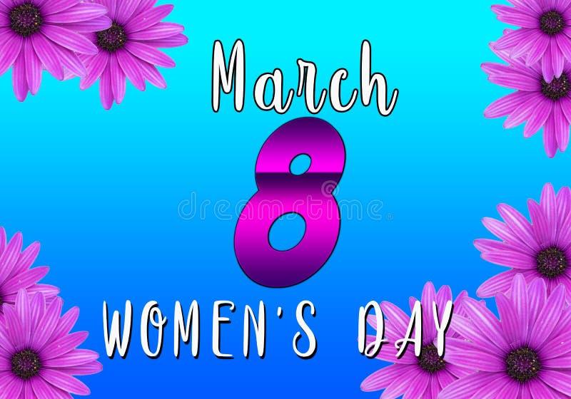 8. März Blumen-Frauen ` s Tageshintergrund stockfotografie