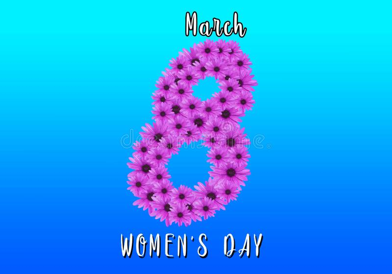 8. März Blumen-Frauen ` s Tageshintergrund lizenzfreie stockfotografie