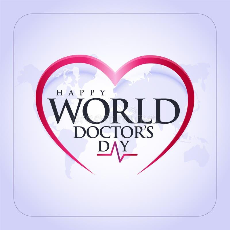 30. März Day Weltdoktors Konzeptgrußkarte, nationale Doktoren Day Template cal stock abbildung