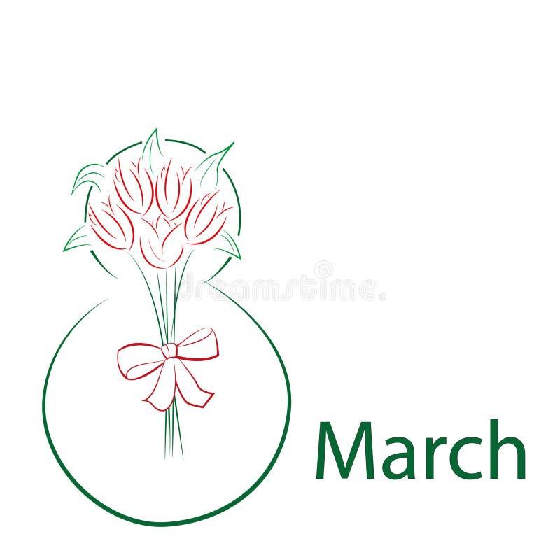 8. März - der Tag der Frauen lizenzfreie stockbilder