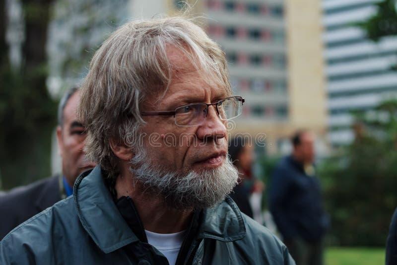 18. März 2019 - März für die Verteidigung des JEP, Sondergerichte für Friedens-BogotÃ-¡ Kolumbien stockfotos