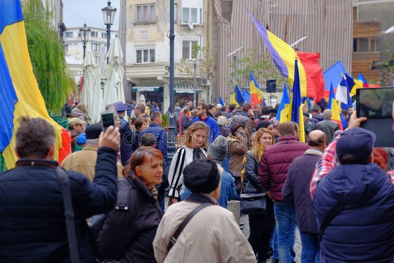 März für Verband von Moldau mit Rumänien stockfotografie