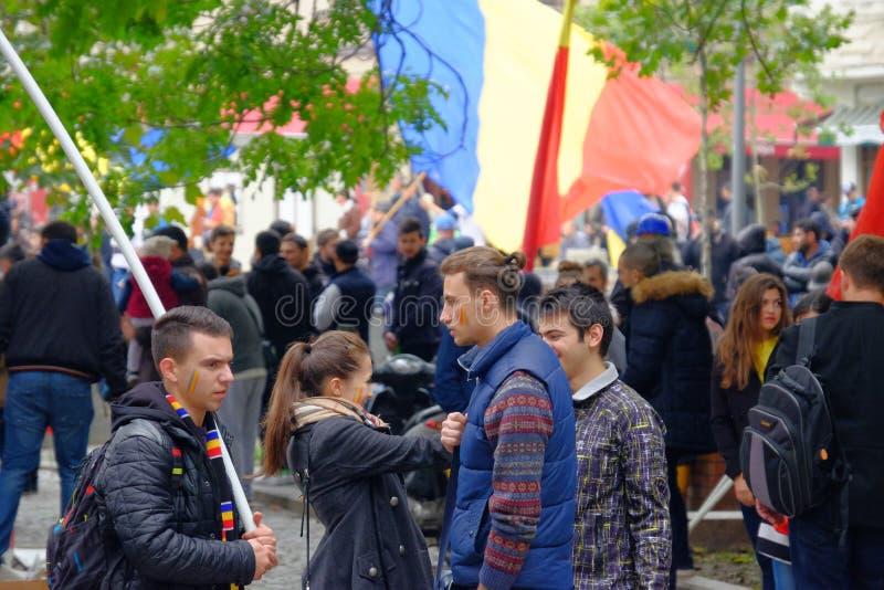 März für Verband von Moldau mit Rumänien lizenzfreie stockfotografie