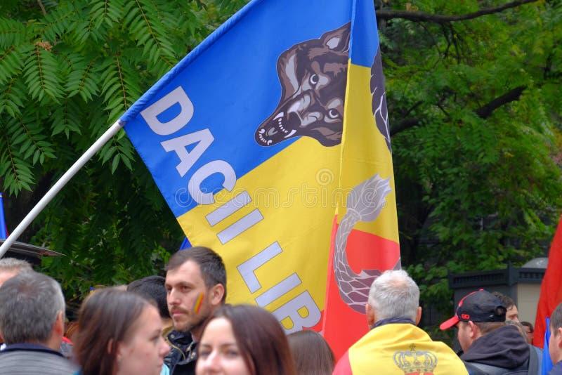 März für Verband von Moldau mit Rumänien stockbild