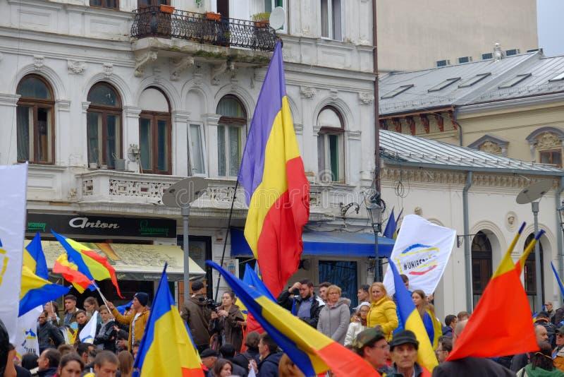 März für Verband von Moldau mit Rumänien stockfotos