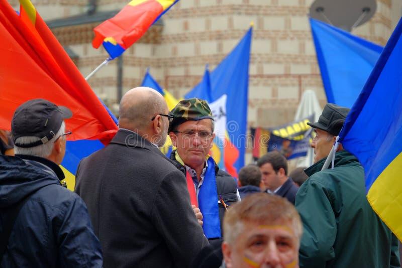 März für Verband von Moldau mit Rumänien lizenzfreies stockbild
