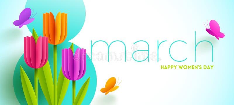 8. März internationale Frauen ` s Tagesillustration vektor abbildung