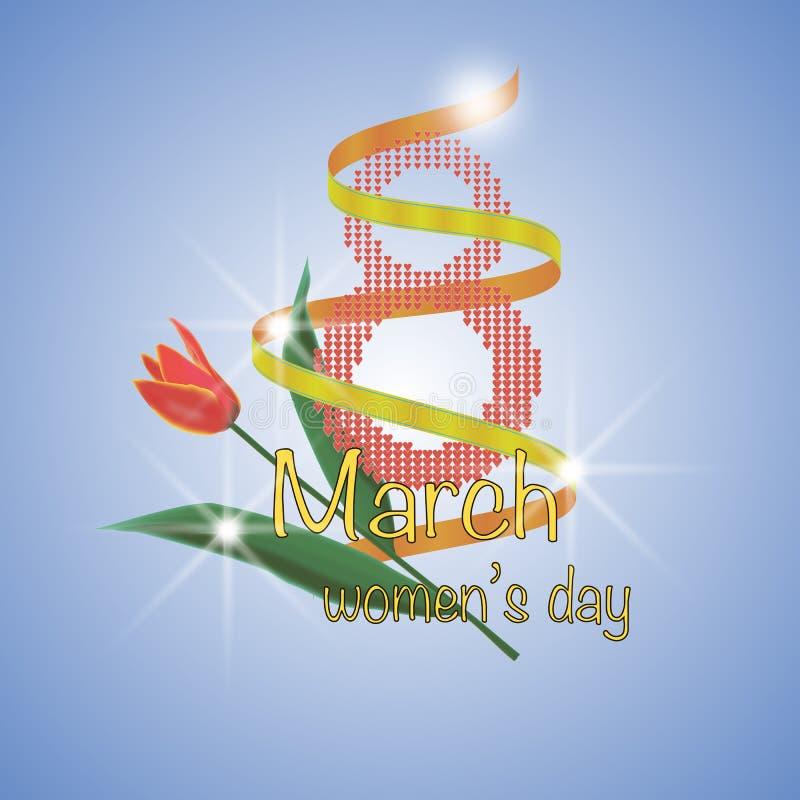 8. März internationaler Frauen ` s Tag lizenzfreie stockfotos