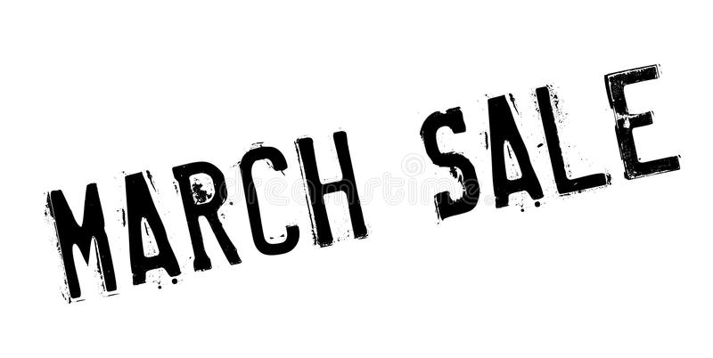 März-Verkaufsstempel lizenzfreie abbildung