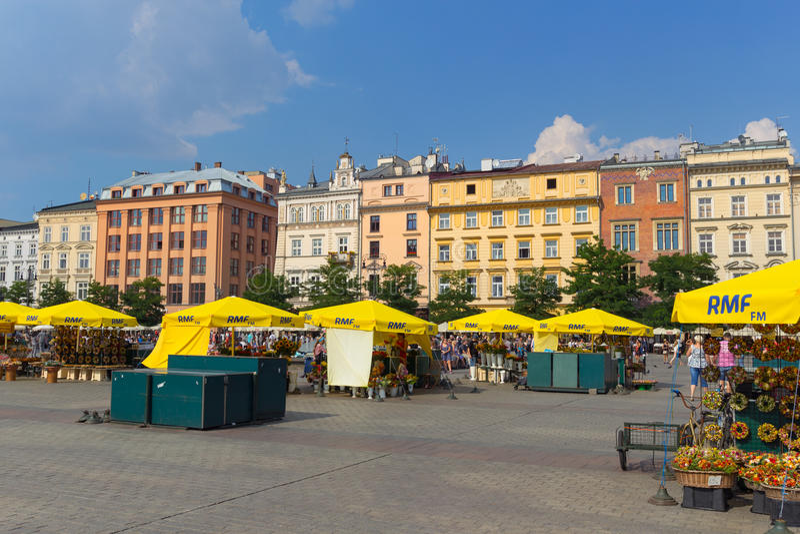 Mässa i Krakow arkivbild