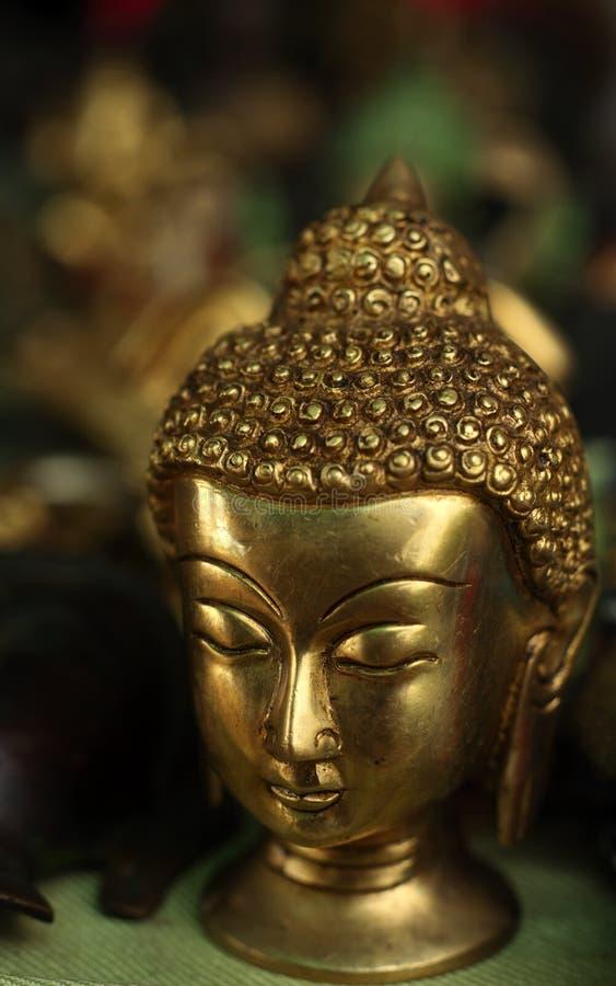 mässingsbuddha huvud royaltyfri bild