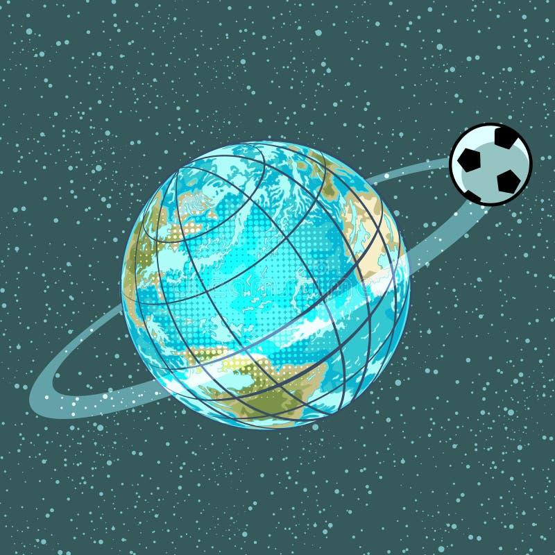 Mästerskap för jord för planet för fotbollfotbollboll stock illustrationer