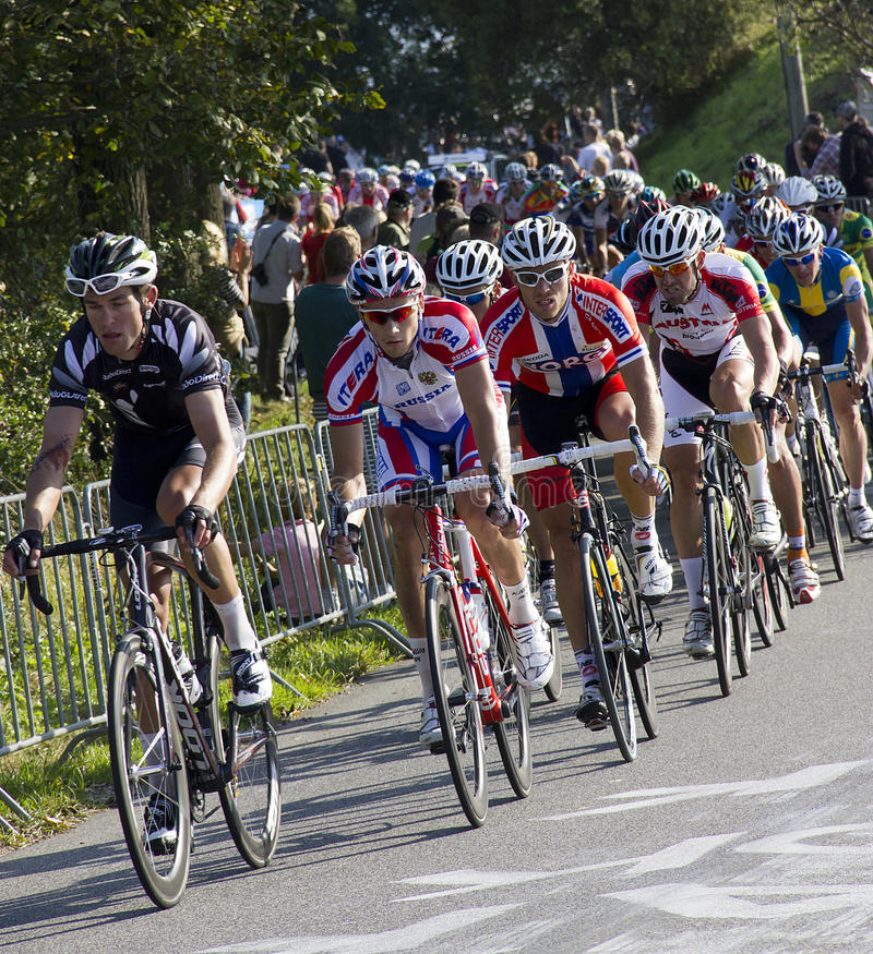 mästerskapelitmän race vägucivärlden fotografering för bildbyråer