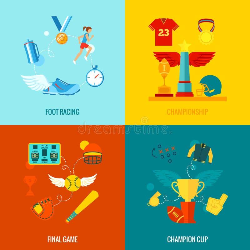 Mästerskapsymboler sänker vektor illustrationer