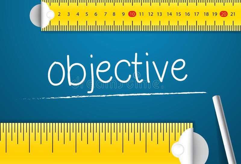 Mäta affärsmålet Begrepp av hur man mäter normal av mål royaltyfria bilder