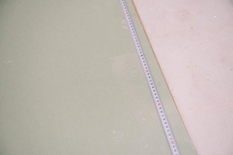 Mäta formatet Gypscortic mätning Dra ett format Mastre mäter längden fotografering för bildbyråer