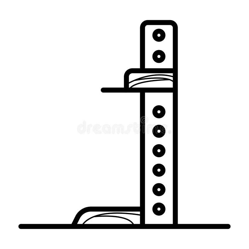 Mäta höjdkroppsymbolen royaltyfri illustrationer
