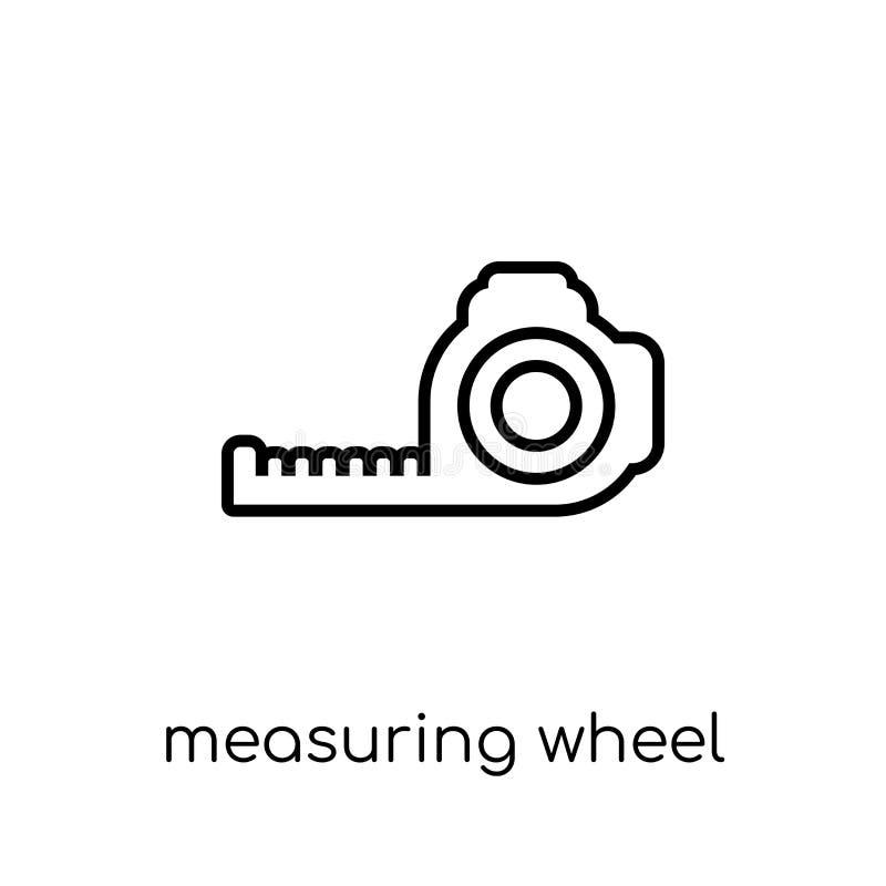 Mäta hjulsymbolen Moderiktigt modernt plant linjärt mäta för vektor vektor illustrationer