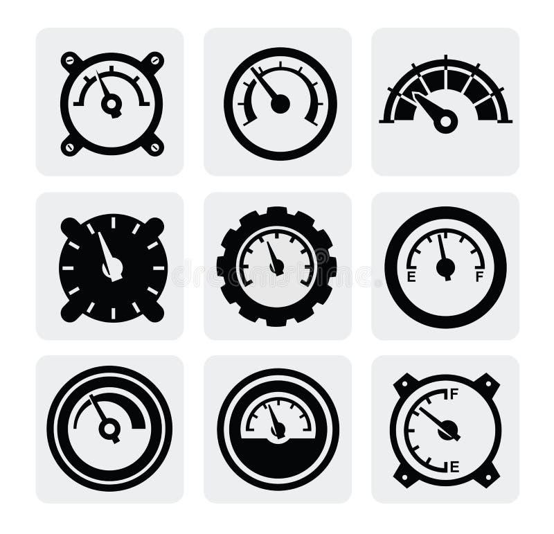 Mäta symboler vektor illustrationer