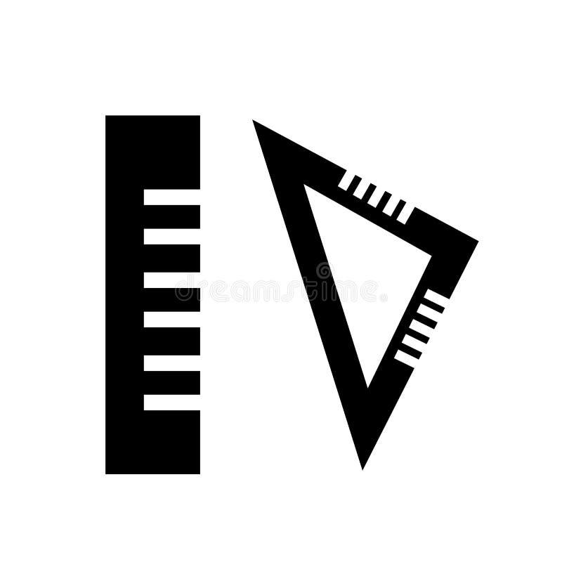 Mäta tecknet och symbolet för hjälpmedelsymbolsvektor som isoleras på vit bakgrund som mäter hjälpmedellogobegrepp stock illustrationer